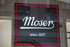 Moser sklepu znak Fotografia Royalty Free