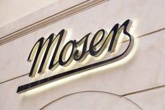 Moser sklepu znak na ścianie Fotografia Royalty Free