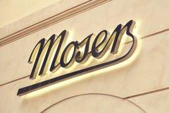 Moser sklepu znak na ścianie 2 Zdjęcie Royalty Free