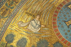 Moses. In heaven, in a UNESCO listed golden mosaic stock image