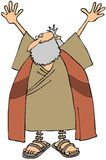 Moses. This illustration depicts a man in long robes and a beard with his arms outstretched Stock Photography