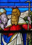 Moses - Buntglas in Mechelen-Kathedrale Stockfotografie