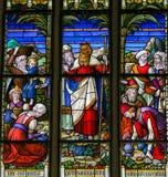Moses - Buntglas in Mechelen-Kathedrale Stockfoto