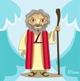 Moses cartoon Stock Image