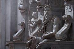 Moses com chifres Imagens de Stock