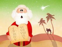 Moses con diez mandamientos Fotografía de archivo