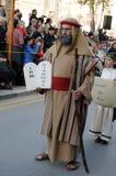 Moses con los diez mandamientos Imagen de archivo libre de regalías
