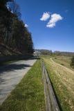 Moses Cone Memorial Park, Ridge Parkway bleu, OR Image stock