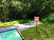 Moses Cone Memorial Park, roccia di salto NC -5 fotografia stock libera da diritti