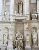 Moses de Michelangelo Imágenes de archivo libres de regalías