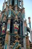 Moses Detail på Schöner Brunnen den härliga springbrunnen Royaltyfri Fotografi