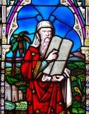 Moses e os dez mandamentos Fotos de Stock