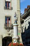 Moses, einer der berühmten Renaissancebrunnen XVII c in altem Stockbild