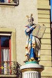 Moses, einer der berühmten Renaissancebrunnen XVII c in altem Lizenzfreies Stockbild