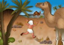 Moses Flees en el desierto