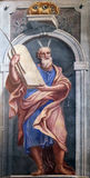 Moses. Fresco painting in the St Nicholas Cathedral in Ljubljana, Slovenia Stock Image