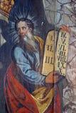 Moses Holding The Ten Commandments Royaltyfria Foton