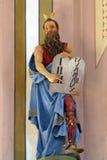 Moses Holding The Ten Commandments Royaltyfri Foto
