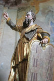 Moses Holding The Ten Commandments Arkivbilder
