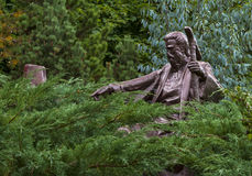 Moses i den bibliska trädgården arkivfoton