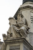 Moses. By Ignazio Jacometti on the base of the Colonna dell`Immacolata, Rome Italy Stock Images