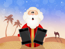 Moses with ipad Royalty Free Stock Images