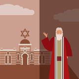 Moses Jew Banner illustration stock