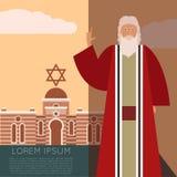 Moses Jew Banner ilustração do vetor