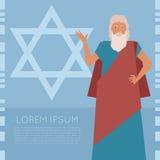 Moses Jew Banner ilustração stock