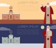 Moses Jew Banner ilustração royalty free