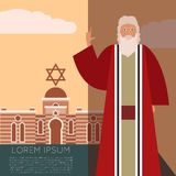 Moses Jew Banner Stock Images