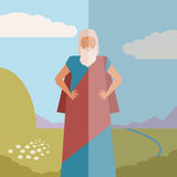 Moses Jew Banner Royalty Free Stock Photo