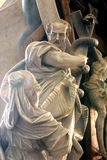 Moses lifts up the brass serpent Royalty Free Stock Images