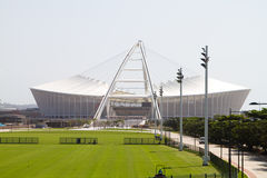 Moses Mabhida Stadium. Brand new Moses Mabhida Stadium, Durban is almost ready for 2010 FIFA world cup games, on March 6, 2010 in Durban, South Africa Royalty Free Stock Photos