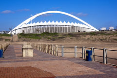 Moses Mabhida Stadium as Seen from Pier on Durban Beach Stock Photography