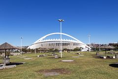 Moses Mabhida Stadium and Blue Sky in Durban Royalty Free Stock Image