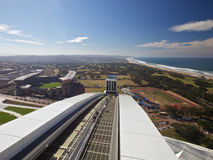 Moses Mabhida Stadium, Durban, South Africa. One of the new stadiums built in preparation for the 2010 Fifa soccer world cup to be held in South Africa. In the Royalty Free Stock Photo