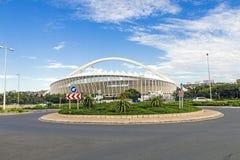 Moses Mabhida Stadium i Durban Sydafrika Arkivbild