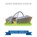 Moses Mabhida Stadium in South Africa. Flat vector Stock Photo