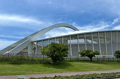 Moses Mabhida-voetbalstadion in Durban stock afbeelding
