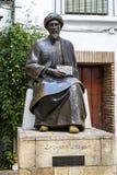 Moses Maimonides, Cordoba. Statue of the Jewish scholar Moses Maimonides, Rabbi Mosheh Ben Maimon, Cordoba, Andalusia, Spain Stock Image