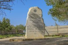 Moses Memorial al supporto Nebo Fotografia Stock