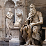 Moses by Michelangelo. In San Pietro in Vincoli, Rome, Italy stock photos