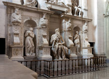 Moses by Michelangelo. In San Pietro in Vincoli, Rome, Italy Stock Photography