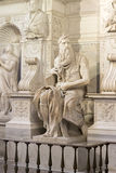 Moses by Michelangelo. Located in San Pietro in Vincoli basilica, Rome,Italy Stock Images