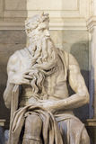 Moses by Michelangelo. Located in San Pietro in Vincoli basilica, Rome,Italy royalty free stock images