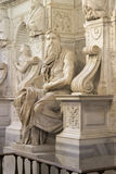 Moses by Michelangelo. Located in San Pietro in Vincoli basilica, Rome,Italy Royalty Free Stock Photography