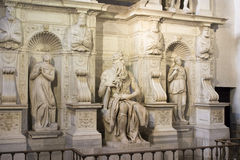 Moses by Michelangelo. Located in San Pietro in Vincoli basilica, Rome,Italy Stock Photo