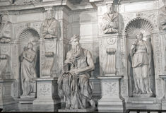Moses by Michelangelo in San Pietro in Vincoli, Rome,Italy Stock Images