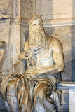 Moses by Michelangelo in San Pietro in Vincoli, Rome,Italy Stock Image